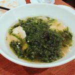 京華小吃 - あおさの水餃子