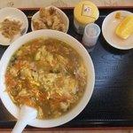 姫燕 - ロウ麺定食(ご飯はプラス250円で焼き飯に変更可)