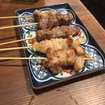 牛ホルモン串 吉村 - 5種串盛