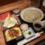 十割そば 素屋 - うな丼と天ざるのセット2160円
