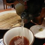 十割そば 素屋 - 蕎麦湯でツユまでいただきます