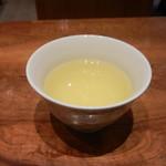 十割そば 素屋 - 〆に蕎麦茶。ごちそうさま。