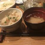 仙台旬風 冨和利 - シメのホタテご飯