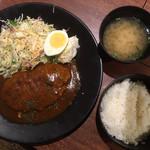 焼肉まるしま - 和牛入りハンバーグ定食