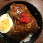 焼肉まるしま - 自作オリジナルハンバーグ丼