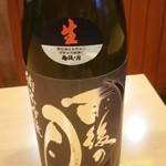 海鮮居酒屋ふじさわ - 雨後の月 blackmoon純米吟醸 生酒