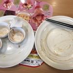 ガスト - スマートニュースクーポン使用       チーズ in ハンバーグ & 海老フライ 458円       山盛りポテトフライ 215円