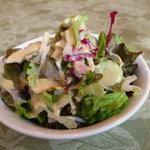 ベル ネージュ - ランチのサラダ