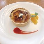 RIZ CAFE - 焼きたて!ふわとろチーズタルト 680円