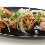 沖縄の味覚で味わう唐揚げ(シークヮサーポン酢)