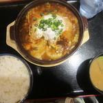 かつ丼のかつさと - 牡蠣味噌鍋定食