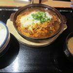 かつ丼のかつさと - 味噌かつ鍋定食