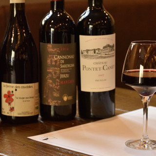 ソムリエ厳選ワインを、グラスで気軽にお楽しみいただけます