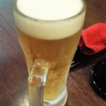 はやし家製麺所 - 生ビール570円