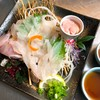 Murakami - 料理写真:いけすで泳いでいた長ハゲをその場で!!