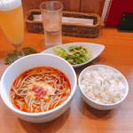 Soba Ristorante na-ru - Bセット  1,100円 日替わり洋風そば + ルネサンスご飯 グラスビール 600円