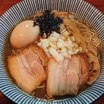 中華蕎麦 會 - 味玉煮干そば¥880
