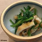 吉香 - 青菜とお揚げさんのお浸し