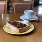 100280291 - モーニング(あんトースト)、コーヒー