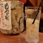 大衆酒場 こうじゑん - 自家製のレモンサワー(上)¥500