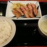 牛たん焼き 仙台辺見 - 料理写真:極上厚切りたん焼き定食(1.5人前)