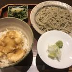 蕎喰いまとみ - 小さめ海老天丼とそば1,080円