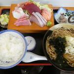 江戸家 - お刺身定食1200円
