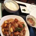 100294467 - 日替わりランチ  酢豚定食 800円