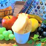 地産CAFE&SHOPけあふぃっとふぁーむ - 百目柿のソルベ