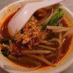 シンガポール海南鶏飯 - 昼呑みの仕上げはプロウンミー