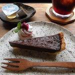 小さな宿&レストラン しいの木やま - 新メニューのチョコレートタルト