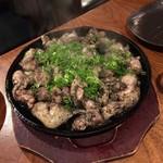 100306116 - 鶏もも肉炎上炙り焼き(宮崎地頭鶏使用)
