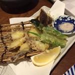 100306117 - タコの天ぷら(本当はもう一切れ多いのですが、写真の前に間違えて食べちゃいました…(^^;)