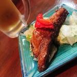 魚辰 - 先付・サバの竜田揚げ焼き
