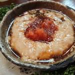 魚辰 - カワハギの肝ポン酢
