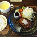 RIDER'S CAFE 寺住 明王寺 - ハンバーグランチ(小)