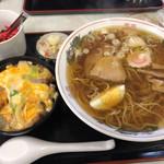 大衆食堂 つか勇 - 料理写真:ラーメンセット