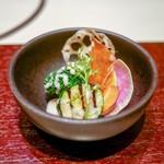 西麻布けんしろう - ☆十種の冬野菜 彩りサラダ