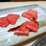 西麻布けんしろう - ☆タレ焼物 厳撰和牛赤身肉盛り合わせ