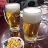 満洲園 - 料理写真:ビールと豆もやし