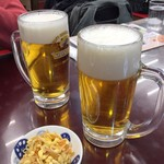 満洲園 - ビールと豆もやし