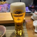 寿司処 すず木 - 生ビール