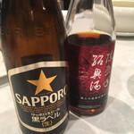 東天紅 - 便ビールと紹興酒の銘柄です