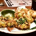 和食と個室 みや本 - 桜海老のかき揚げ
