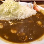 中栄 - 築地魚河岸シーフードカレー 1000円。