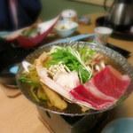 100341781 - 鍋物:国産牛とズワイ蟹鍋 柚子胡椒の香り