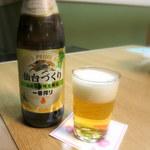 奥州秋保温泉 蘭亭 - ビールは一番搾り「仙台づくり」でした~!