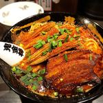カラシビ味噌らー麺 鬼金棒 - 肉増しカラシビ味噌らー麺(カラ鬼増し、シビ普通、ヤングコーン)