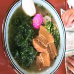 スリーピース - 料理写真:久米島アーサーそば