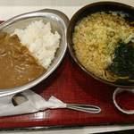 かくや - ミニ丼セット(カレー)(630円)+わかめとたぬき